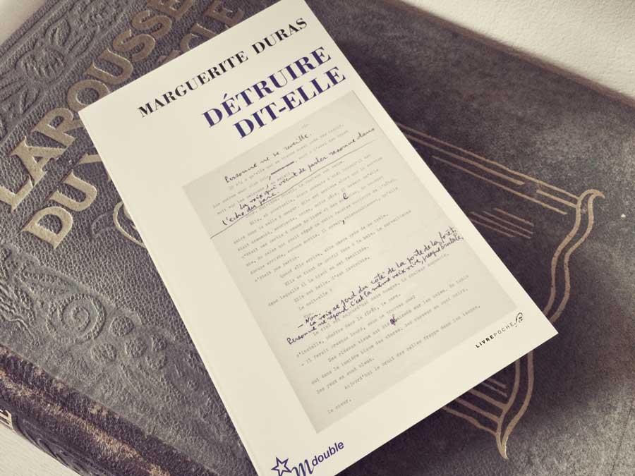 Détruire dit-elle de Marguerite Duras par Livrepoche.fr
