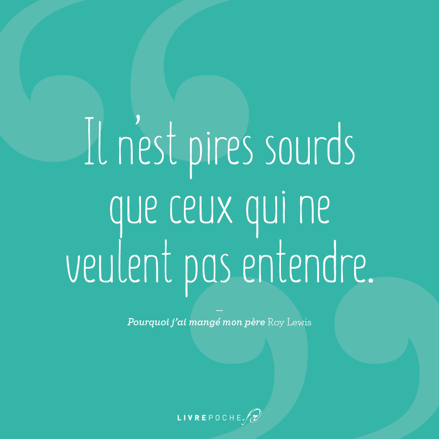 Citation Roy Lewis par Livrepoche.fr
